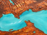Original Painting James Lucas, Mineral Deposits Abstract