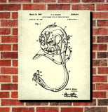 Dive Helmet Patent Print Diving Blueprint Marine Poster