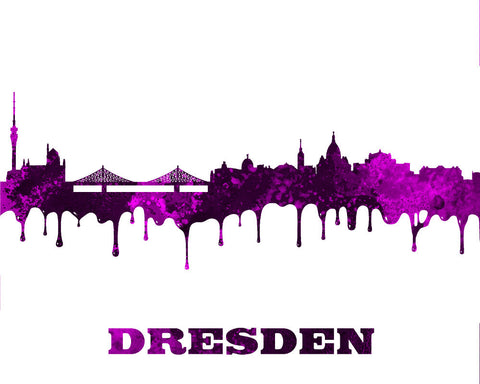 Dresden City Skyline Print Wall Art Poster Germany - OnTrendAndFab