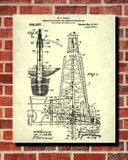 Drilling Rig Patent Print Oil Derrick Blueprint Poster - OnTrendAndFab