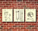 Drumming Patent Prints Drums Blueprint Drummer Poster