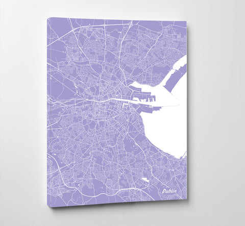 Dublin City Street Map Print Custom Wall Map of Dublin