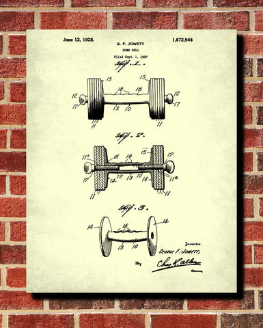 Dumbbell blueprint weight lifting patent print poster ontrendandfab dumbbell blueprint weight lifting patent print poster malvernweather Images
