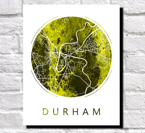 Durham Street Map Custom Wall Map Poster