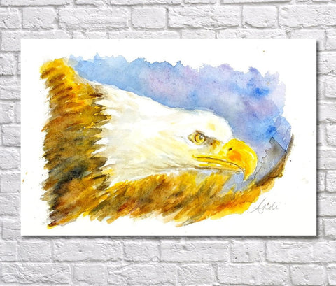 Eagle Watercolour Print, Andi Lucas Wildlife Art