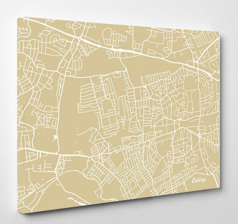 Ealing London City Street Map Print Feature Wall Art Poster 7180L