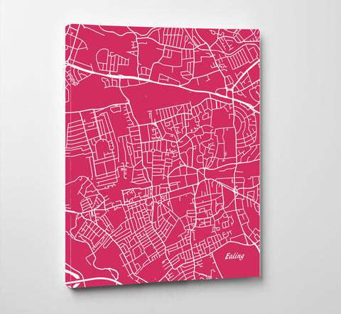 Ealing London City Street Map Print Feature Wall Art Poster 7180P