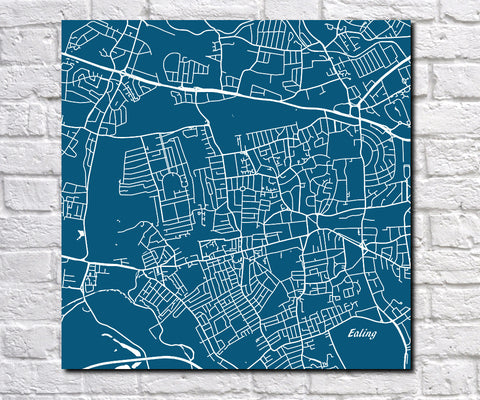 Ealing, London City Street Map Custom Wall Map Poster 7180S