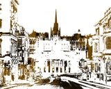 Edinburgh City Skyline Print Feature Wall Art Landscape Poster