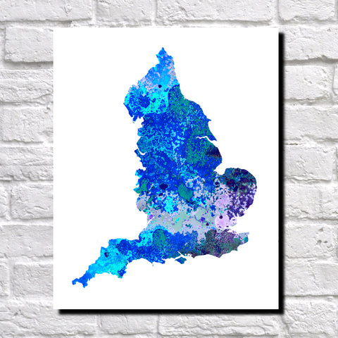 Map Of England To Colour.England Map Print Outline Wall Map Of England