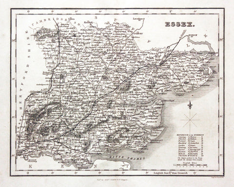 Essex County Map Print Vintage Poster Old Map as Art - OnTrendAndFab
