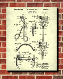 Eyelash Curler Patent Print Salon Blueprint Makeup Beauty Poster