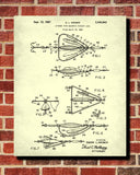 Fishing Lure Patent Print Angling Poster Sports Blueprint