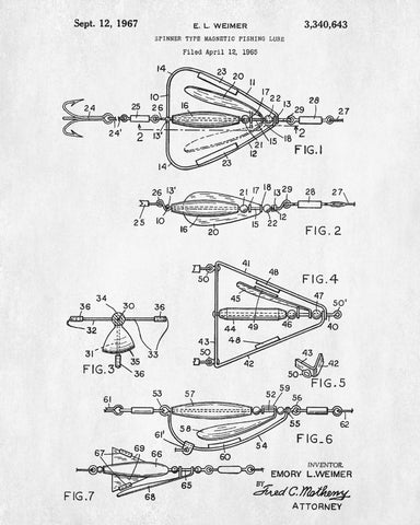 Fishing lure patent print angling poster sports blueprint fishing lure patent print angling poster sports blueprint malvernweather Choice Image