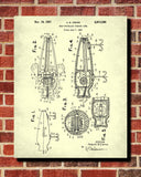Fishing Lure Patent Print Angling Blueprint Sports Poster