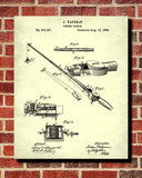 Fishing Rod Patent Print Angling Poster Sports Blueprint