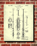 Fishing Rod Blueprint Angling Poster Sports Patent Print