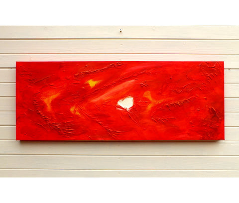 Original Painting James Lucas, Red Flow Abstract