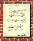 Flying Car Patent Print Aviation Blueprint Atomic Poster