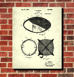 Football Patent Print Ball Design Blueprint Sports Poster