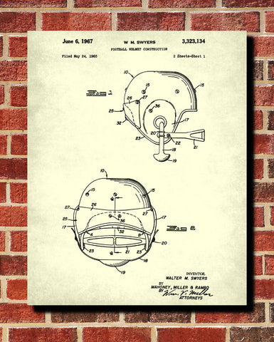 Football helmets patent print man cave poster sport blueprint football helmet patent print man cave poster sports blueprint malvernweather Choice Image