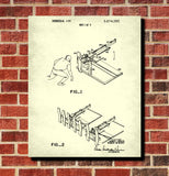 Football Patent Print Training Sled Blueprint Sports Poster