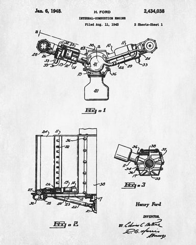 Ford engine blueprint automotive car patent print garage poster ford engine blueprint automotive car patent print garage poster malvernweather Image collections
