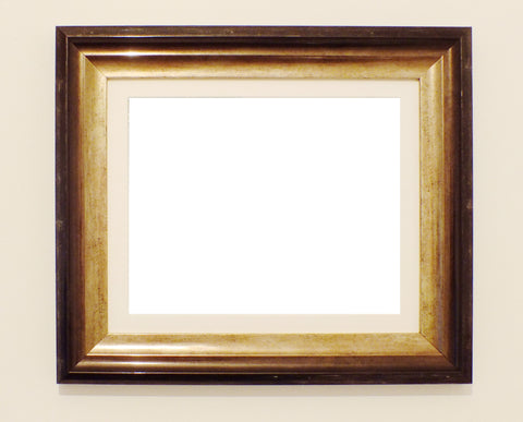 picture frame black and bronze with white mount custom made frames