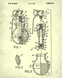 Gas Grenade Patent Print Law Enforcement Wall Art Poster