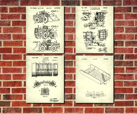 Gold Mining Patent Prints Set 4 Klondike Gold Rush Posters