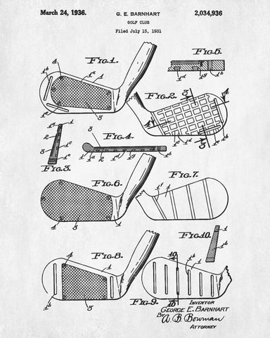 Golf club patent print golfing blueprint golfer poster wall art copy of golf club patent print golfing blueprint golfer poster wall art malvernweather