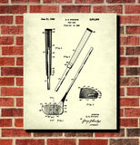Golf Club Blueprint Golfer Poster Golfing Patent Print Wall Art