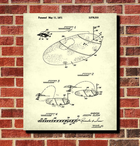 Golf Practice Patent Print Golfing Gift Golfer Poster