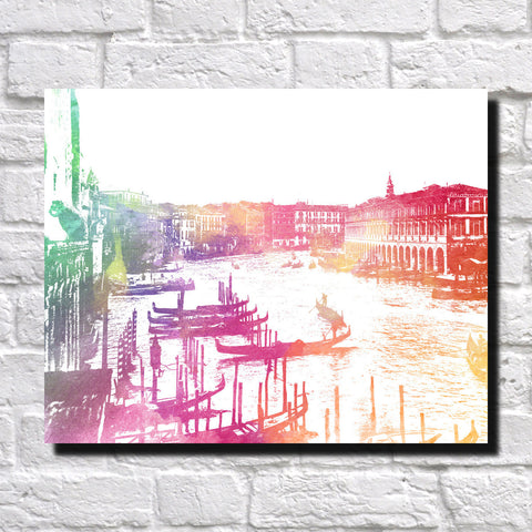Venice Grand Canal City Skyline Print Landscape Poster Feature Wall Art