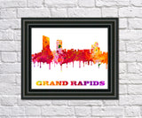 Grand Rapids City Skyline Print Wall Art Poster Michigan USA - OnTrendAndFab