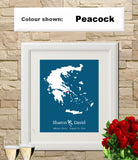 Greece Custom Wedding Engagement Art Print - OnTrendAndFab