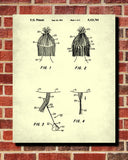Hair Extensions Patent Print Hairdressing Blueprint Salon Poster - OnTrendAndFab