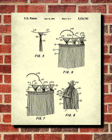 Hair Extensions Patent Print Salon Poster Hairdressing Blueprint - OnTrendAndFab
