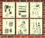 Hairdressing Patent Prints Set 6 Hair Salon Art Posters - OnTrendAndFab