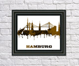 Hamburg City Skyline Print Wall Art Poster Germany - OnTrendAndFab
