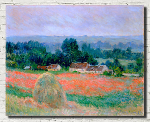 Claude Monet Fine Art Print, Haystack at Giverny
