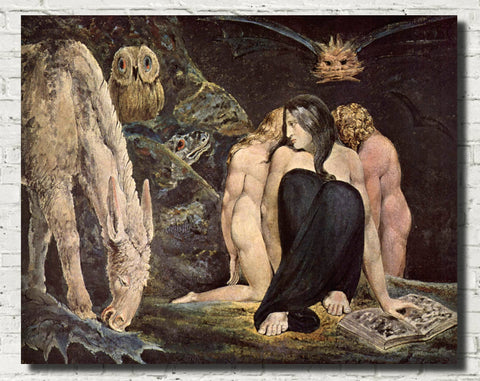 William Blake Fine Art Print, Hecate, Goddess of Magic