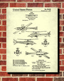 Helicopter Patent Print Military Blueprint Flying Poster - OnTrendAndFab