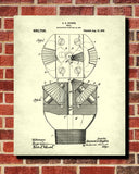 Hughes Drill Patent Print Oil Drilling Blueprint Engineering Poster - OnTrendAndFab