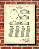 Hockey Puck Patent Print Sports Blueprint Man Cave Poster
