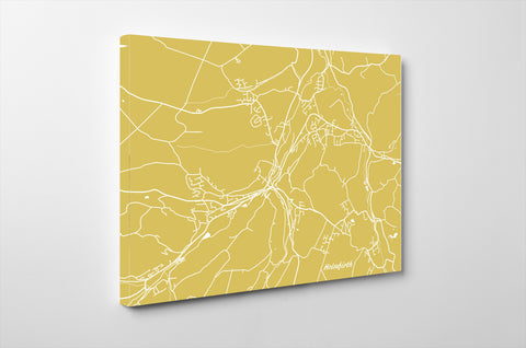Holmfirth, UK City Street Map Print Feature Wall Art Poster