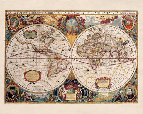 World Map Print Vintage Poster Old Map as Art - OnTrendAndFab