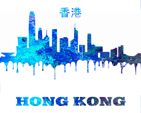 Hong Kong City Skyline Print Wall Art Poster China - OnTrendAndFab