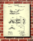 Saddle Blueprint Horse Riding Poster Equestrian Patent Print - OnTrendAndFab