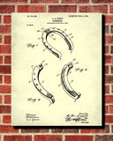 Horse Shoes Patent Print Equestrian Blueprint Riding Art Poster - OnTrendAndFab